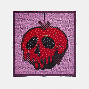 Image of Coach Australia  DISNEY X COACH POISON APPLE PATCHWORK SCARF