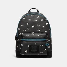 Image of Coach Australia MW/BLACK DISNEY X COACH ACADEMY BACKPACK WITH SPOOKY EYES PRINT
