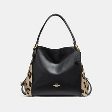 Picture of EDIE SHOULDER BAG 31 WITH EMBELLISHED LEOPARD PRINT