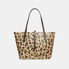 Picture of MARKET TOTE WITH LEOPARD PRINT