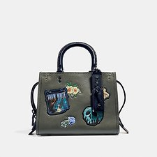 Image of Coach Australia BP/ARMY GREEN DISNEY X COACH ROGUE 25 WITH PATCHES