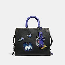 Image of Coach Australia BP/BLACK DISNEY X COACH ROGUE WITH PATCHES