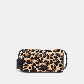 Image of Coach Australia  DINKY WITH EMBELLISHED LEOPARD PRINT