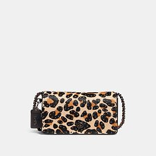 Image of Coach Australia BP/LEOPARD DINKY WITH EMBELLISHED LEOPARD PRINT