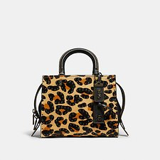 Image of Coach Australia BP/LEOPARD ROGUE 25 WITH EMBELLISHED LEOPARD PRINT