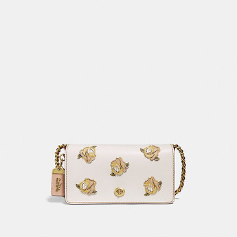 Image of Coach Australia  DINKY WITH ROSE APPLIQUE