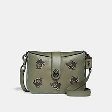 Image of Coach Australia BP/ARMY GREEN PAGE 27 WITH ROSE APPLIQUE