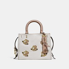 Image of Coach Australia B4/CHALK ROGUE 25 WITH ROSE APPLIQUE