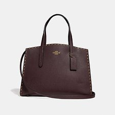 Image of Coach Australia B4/OXBLOOD CHARLIE CARRYALL WITH RIVETS