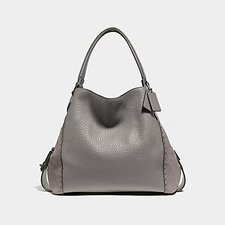 Image of Coach Australia BP/HEATHER GREY EDIE SHOULDER BAG 42 WITH RIVETS