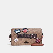 Picture of DISNEY X COACH GRUMPY FOLDOVER CROSSBODY CLUTCH