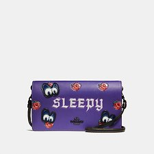 Picture of DISNEY X COACH SLEEPY FOLDOVER CROSSBODY CLUTCH