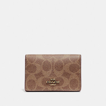 Image of Coach Australia  BUSINESS CARD CASE IN SIGNATURE CANVAS