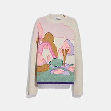 Image of Coach Australia  SPOOKY COTTAGE OVERSIZED SWEATER