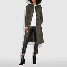 Image of Coach Australia MILITARY COTTON TRENCH COAT