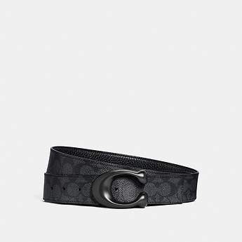 Image of Coach Australia  SCULPTED SIGNATURE CUT-TO-SIZE REVERSIBLE BELT