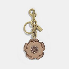 Image of Coach Australia B4/NUDE PINK CRYSTAL TEA ROSE MIX BAG CHARM