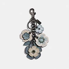 Image of Coach Australia DK/METALLIC LIGHT BLUE CRYSTAL TEA ROSE MIX BAG CHARM