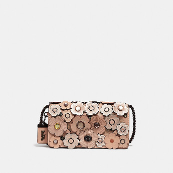 Image of Coach Australia  DINKY WITH CRYSTAL TEA ROSE