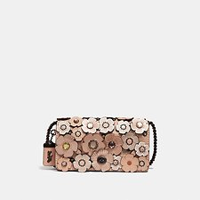Image of Coach Australia V5/NUDE PINK DINKY WITH CRYSTAL TEA ROSE