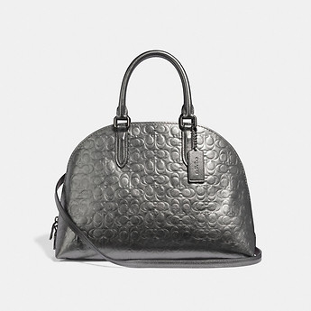 Image of Coach Australia  QUINN SATCHEL IN SIGNATURE LEATHER