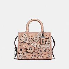 Image of Coach Australia V5/NUDE PINK ROGUE 25 WITH CRYSTAL TEA ROSE