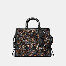 Image of Coach Australia BP/BLACK MULTI ROGUE WITH LEATHER SEQUINS