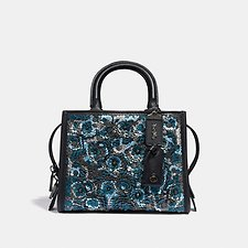 Image of Coach Australia BP/BLUE MULTI ROGUE 25 WITH LEATHER SEQUIN