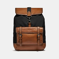 Image of Coach Australia JI/BLACK/SADDLE BLEECKER BACKPACK