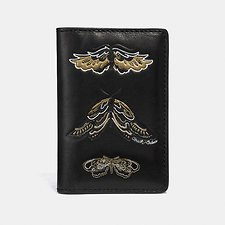 Image of Coach Australia  CARD WALLET WITH TATTOO