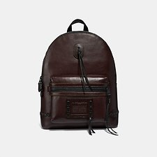 Image of Coach Australia MW/MAHOGANY ACADEMY BACKPACK WITH WHIPSTITCH