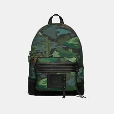 Image of Coach Australia MW/BLACK ACADEMY BACKPACK IN CORDURA® FABRIC WITH LANDSCAPE PRINT
