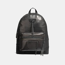 Image of Coach Australia MW/BLACK ACADEMY BACKPACK WITH WHIPSTITCH