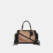 Image of Coach Australia B4/TAN BLACK DREAMER 21 IN SIGNATURE CANVAS WITH WHIPSTITCH