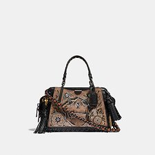 Image of Coach Australia BP/TAN BLACK DREAMER 21 IN SIGNATURE CANVAS WITH TATTOO