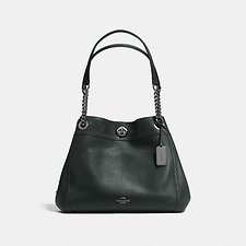 Picture of EDIE SHOULDER BAG IN POLISHED PEBBLE LEATHER