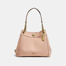 Image of Coach Australia LI/BEECHWOOD EDIE SHOULDER BAG IN POLISHED PEBBLE LEATHER