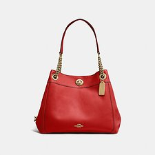 Image of Coach Australia LI/JASPER EDIE SHOULDER BAG IN POLISHED PEBBLE LEATHER