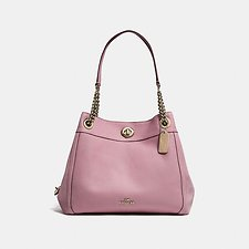 Image of Coach Australia LI/ROSE EDIE SHOULDER BAG IN POLISHED PEBBLE LEATHER