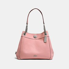 Image of Coach Australia SV/PEONY EDIE SHOULDER BAG IN POLISHED PEBBLE LEATHER