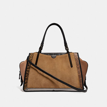 Image of Coach Australia  DREAMER 36 IN COLORBLOCK WITH SNAKESKIN DETAIL