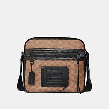 Image of Coach Australia MW/BLACK/KHAKI DYLAN 27 IN SIGNATURE CANVAS