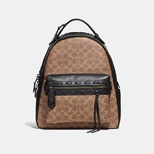 Image of Coach Australia BP/TAN BLACK CAMPUS BACKPACK IN SIGNATURE CANVAS WITH WHIPSTITCH