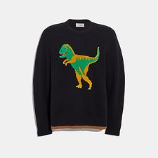 Image of Coach Australia BLACK REXY INTARSIA SWEATER