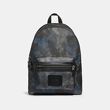 Image of Coach Australia QB/CHARCOAL ACADEMY BACKPACK IN SIGNATURE WILD BEAST PRINT