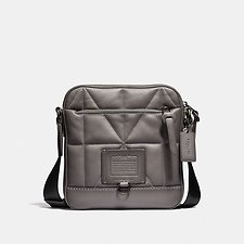 Image of Coach Australia JI/HEATHER GREY RIVINGTON CROSSBODY WITH QUILTING