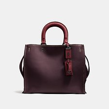 Image of Coach Australia BP/OXBLOOD ROGUE BAG IN GLOVETANNED LEATHER