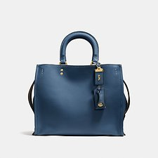 Image of Coach Australia OL/DARK DENIM ROGUE BAG IN GLOVETANNED LEATHER
