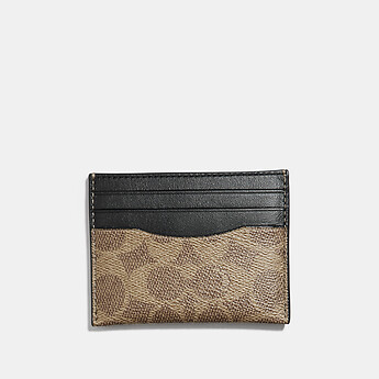 Image of Coach Australia  CARD CASE IN SIGNATURE CANVAS