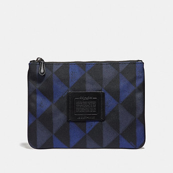 Image of Coach Australia  MULTIFUNCTIONAL POUCH WITH GEO PRINT